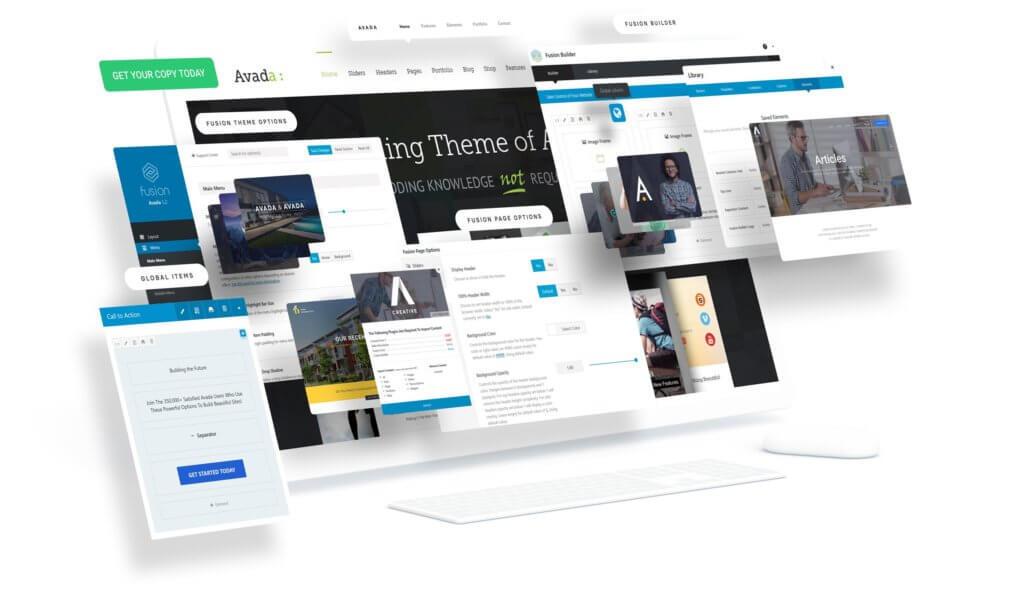 Avada by ThemeFusion example windows